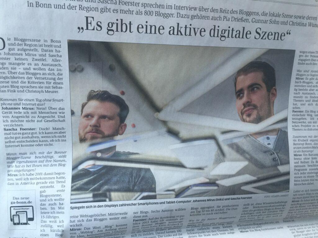 Interview im General-Anzeiger