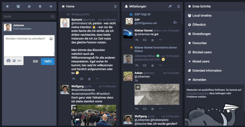 Screenshot Timeline @Johannes@Bonn.social